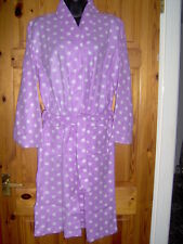 GIRLS FLEECE DRESSING GOWN/ROBE - LIGHTWEIGHT - AGE 7/8 YEAR