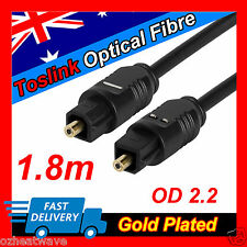 Toslink Optical Fibre Audio Cable Lead 5.1 Digital For Surround Sound