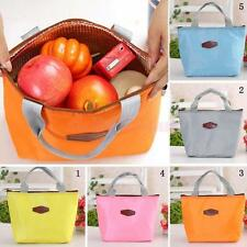 Picnic Lunch Bag Storage Box Food Carry Tote Travel Bento Holder 5 Colors