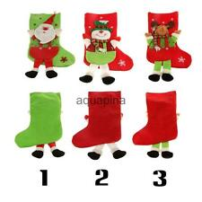 Christmas Stocking Santa/Snowman/Deer Hanging Gift Bag Decoration Party Ornament
