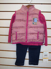 Infant & Toddler Girls Baby Togs $46 3pc Pink Vest Set Size 12 Months - 4T