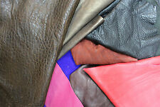 1KG-5KG 100% Leather Off-Cuts Leather & Suede Scrap Mixed Colours & Sizes