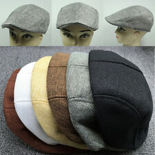 Unisex Summer Peaked  Beret Flax Cap Country Outdoors Golf Hat Trendy Cabbie