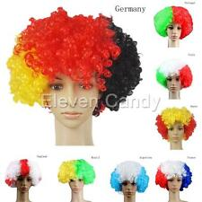 World Cup Football Fans Game Supplies Afro Curly Wig Fancy Dress Costume Cosplay