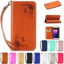 Magnetic Flip Patterned PU Leather Wallet Stand Case Cover For Samsung Galaxy