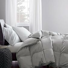 600TC 300GSM FIBER FILL 1PC COMFORTER SILVER GREY SOLID 100% EGYPTIAN COTTON