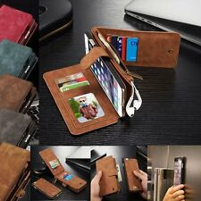 Genuine Leather Removable Wallet Magnetic Flip Card Case Cover Skin for iPhone 6