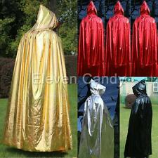 Hooded Hoodie Cape Kid Adult Witch Wizard Vampire Halloween Costume Cloak Robe
