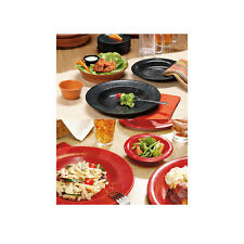 Etchedware Melamine Textured Dinnerware/Plate,Bowl,Platter/Black,Red,White