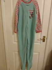 "Girls Aqua ""SNUGGLE UP""  Onesie  All In One, , Sleepsuit,  Babygrow - Ages 5-13"