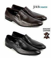 Men Leather Shoes Slip On Dress Wedding Smart Office Formal Casual Loafers Size