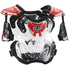 Fox MX/ ATV Offroad Red/Clear R3 Roost Deflector/ Chest Protector