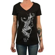 Crucible by Josh Stebbins Women's Tee Shirt Tattoo Art Sugar Skull Mask