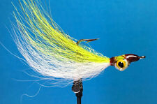 (3pk) Saltwater fishing Yellow Eye CLOUSER DECEIVERS Flies Sea Bass CMY1002
