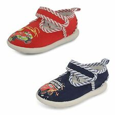 New De Fonseca Infants Childrens Canvas Strap Pull Tab Trainers Flat Shoes Size