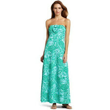 Lilly Pulitzer Shorely Jules Toucan Tango Jersey Maxi Dress Green New