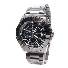 Seiko Analog Casual Mens Chronograph  Black JAPAN Watch SNDD77P1
