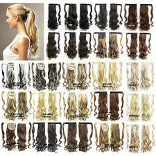 """22"""" Clip In Wavy Curly Ponytail Long Hair Extension Wrap On Pony Tail Hair Piece"""