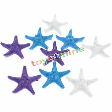 3 Pcs Resin Starfish Tropical Ornament Beach Ocean Sea Star Home Wall Decoration