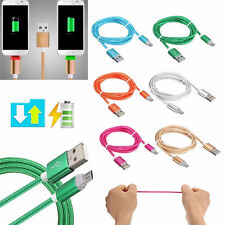 1M Visible LED Light  Braided Micro USB Data & Sync Charger Charging Cable Cord
