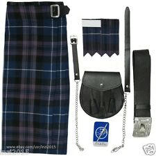Honour Of Scotland Wedding Highland Kilt Outfit 7 Pcs Sporran Pin Belt Flashes