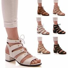 LADIES WOMENS SUMMER LOW BLOCK HEEL SANDALS COMFORT HOLIDAY FASHION STYLE SHOES
