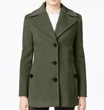 Calvin Klein Women's Wool-Cashmere Blend Single-Breasted Peacoat - Gray