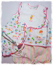 Kissy Kissy Baby Girl's Sorbet Pima Cotton Sunsuit, Bloomers, Hat Bib 4pc reborn