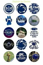 """PENN STATE NITTANY LIONS 1"""" CIRCLES  BOTTLE CAP IMAGES. $2.45-$5.50 SHIPS FREE"""
