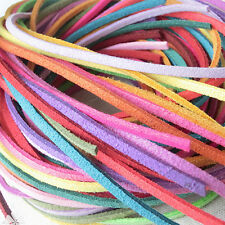 """15M Leather Deer Lace Single Strand 1/8"""" Red/Black/Yellow/Blue/Rusty TO310"""