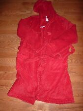 VICTORIAS SECRET VELOUR EARS PLUSH ROBE HOODIE L NWT