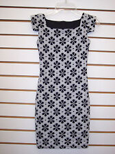 Girls Un Deux Trois Black & White Floral Dress Size 8 - 16