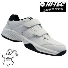 MENS HI TEC LEATHER CASUAL VELCRO FITNESS RUNNING WALKING TRAINERS SHOES SIZE