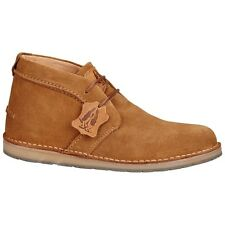 Hush Puppies CURTIS Mens Suede Leather Vintage Casual Wide Fit Desert Boots Tan