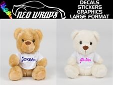 Personalised Cute Teddy Bear Brown Cream Cuddly Toy / Name