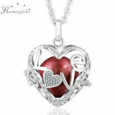 Pregnant Women Mexican Bola Ball Pendant Silver Plated Necklace LOVE Locket