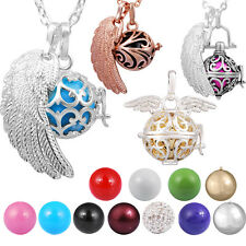 Angel Wing Harmony Ball Pendant Pregnant Women Necklace Mexican Bola Jingle Bell