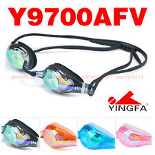 YINGFA Y9700AFV SWIMMING GOGGLES ANTI-FOG UV PROTECTION [BLACK BLUE ORANGE PINK]