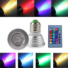E27 3W 16 Color Changing RGB LED Light Bulb with Remote Control Dimmable Lamp