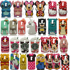 3D Cartoon Cute Soft Silicone Case Phone Back Cover Skin For LG Mobile Phones
