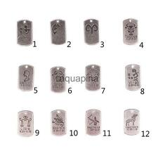 10x Square Horoscope Zodiac Necklace Bracelet Pendant Charms Jewelry DIY Makings