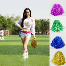 Newest Pom Poms Cheerleader Cheerleading Cheer Poms Dancing Party Decoration