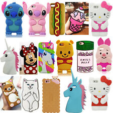 3D Cartoon Soft Silicone Phone Back Case Cover Skin For Various Mobile Phones