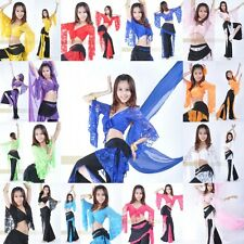 1x Womens Belly Dance Costume Butterfly Sleeve Lace Blouse Tops Multi Color #YL