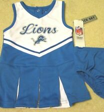 2016 Licensed NFL DETROIT LIONS 2 PIECE Cheerleader Uniform 12M 18M 2T 3T 4T