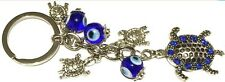 Evil Eye Key Ring or Car Charm 1 big & 3 little Turtles with hanging Evil Eyes