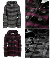 AEROPOSTALE WOMENS PLAID WOOL TOGGLE JACKET PEA COAT,NWT, Purple, XS