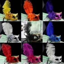 Women Feather Flower Mask Masquerade Ball Party Eye Mask Sexy Party Fancy Dress
