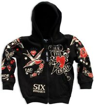 Six Bunnies Kids Alternative Hoodie Rockabilly Nautical Punk Rock Coat Jacket