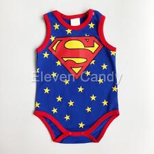 Newborn Infant Baby Boys Girls Superman Romper Jumpsuit Superhero Costume Outfit